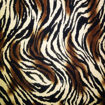 Printed ITY (Brown & Black Zebra Print On White Background)