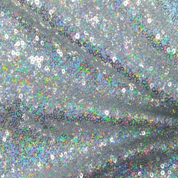 Stretch Sequins (Holographic Silver)