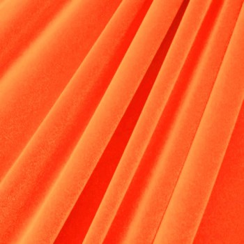 Solid Color Velvet (Neon Orange)