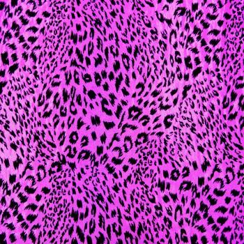Animal Print (Black Leopard Print On Fuchsia Background)