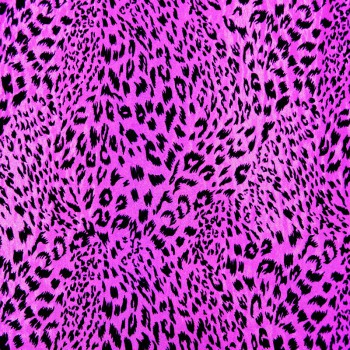 Patterned Hologram ( Black Leopard Print on Fuchsia Background
