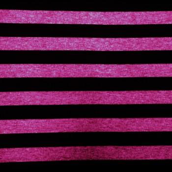 Fuchsia & Balck Stripe