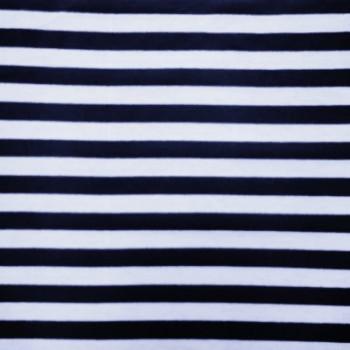 White & Navy Stripe