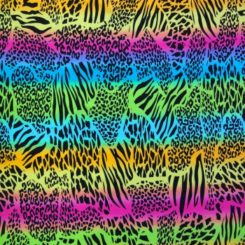 Printed Spandex (Multi Color)