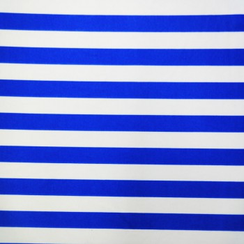 Printed Stripes (Royal/White)