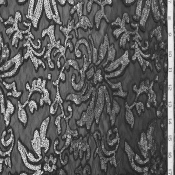 Designer's Sequins Lace (Black)