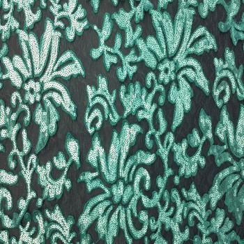 Designer's Sequins Lace (Teal)
