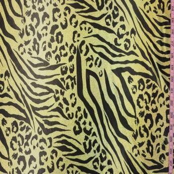 Animal Print On Metallic Spandex