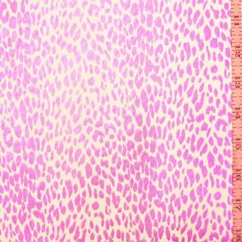 Leopard  White & fuchsia