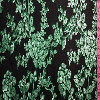 Designer's Sequins Lace (Teal green)