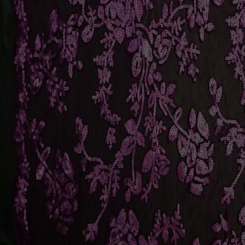 Designer's Sequins Lace (Plum)