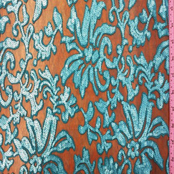 Sequin Lace (Turquoise and Turquoise Sequin)