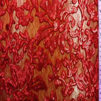 MC Sequins Lace (Red & Red)