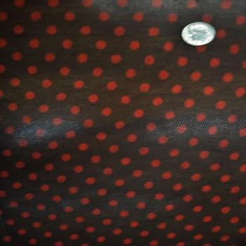 Polka Dot Black Red