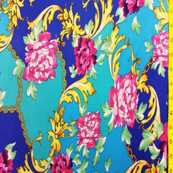 Versace Print Chine with Flowers