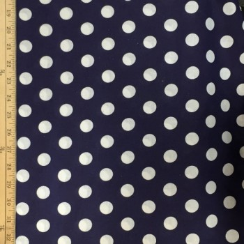 Navy (White Dots - Large)