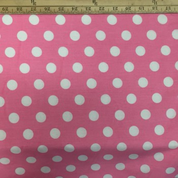 Pink (White Dots - Large)