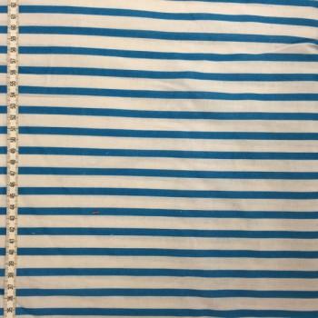 Turquoise & White Stripes
