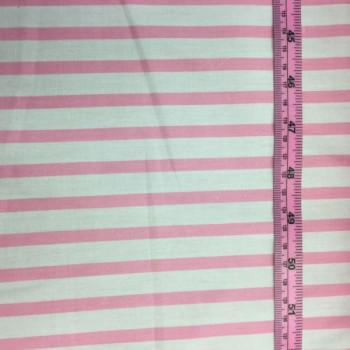 Baby Pink & White Stripes