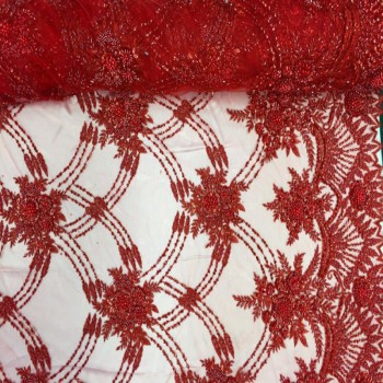 Beaded Lace (Red)