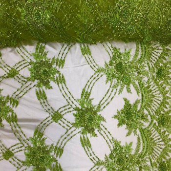 Beaded Lace (Lime Green)