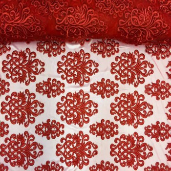 Embroidery Mesh (Red)