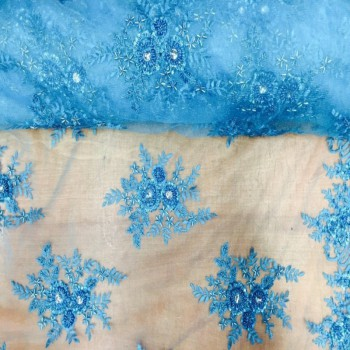 Beaded Lace (Floral - True Blue)