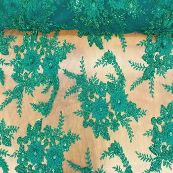 Beaded Lace (Spiked Flowers - Green)