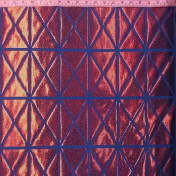 Patterned Hologram (Triangle-Squares : Red/Blue)