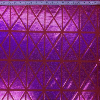 Patterned Hologram (Triangle-Squares : Purple/Red)