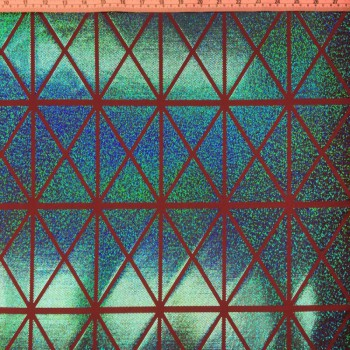 Patterned Hologram (Triangle-Squares : Green/Red)