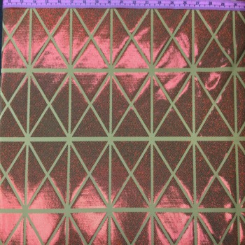 Patterned Hologram (Triangle-Squares : Red/Yellow)