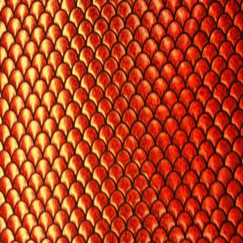 Fish Scale (Red-Orange)