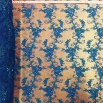 Beaded Lace (Royal Blue)