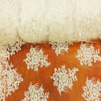 Sequins Lace (White)