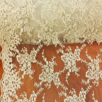 Beaded lace (White)
