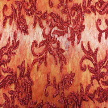 Metallic Sequins Lace (Red)