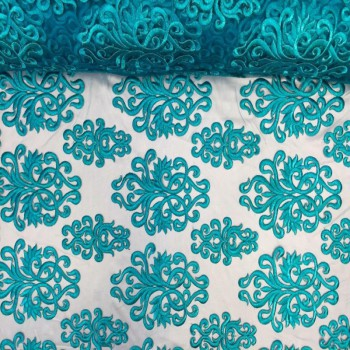 Embroidery Mesh (Turquoise)