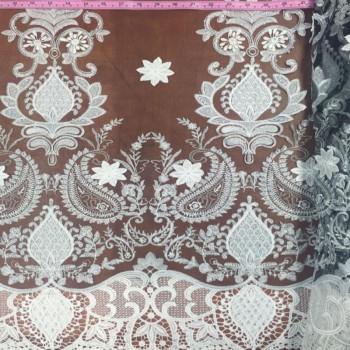 Mesh Lace (White on Black)