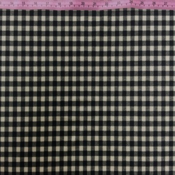Printed Velvet (Black Plaid)