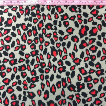 Printed Velvet (Red Cheetah Print)