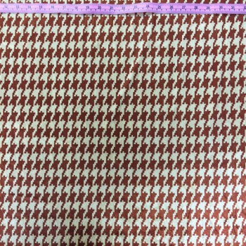 Printed Velvet (Red Houndstooth)