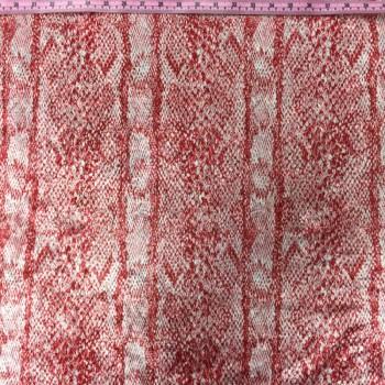 Printed Velvet (Pink Snakeskin Print)