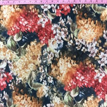 Printed Velvet (Crushed Floral Print)