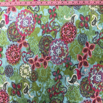 Printed Velvet (Floral Print)