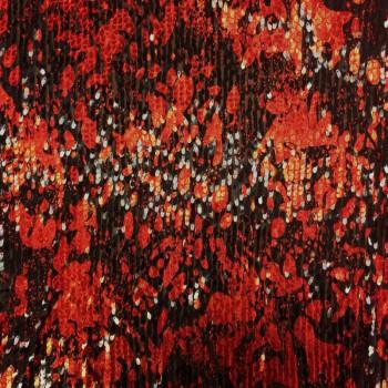 Stretch Sequins (Red Splatter Design)