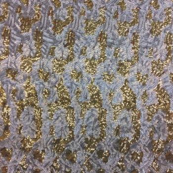Stretch Sequins (Gold/White Design)