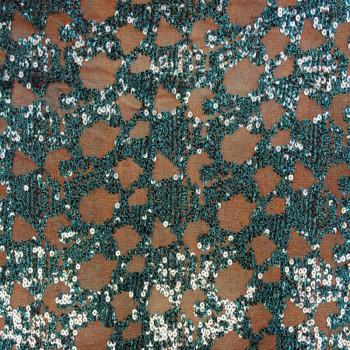 Designer's Stretch Sequins (Turquoise Webs)
