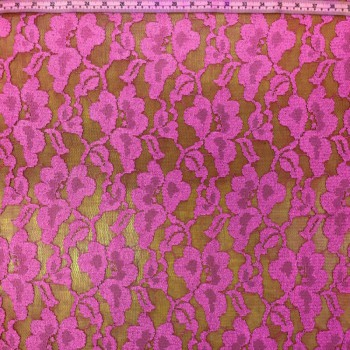 Lilac Stretch Lace (Flower Pattern)