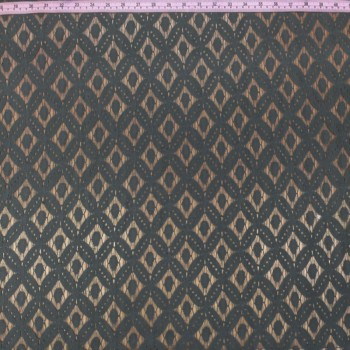 Charcoal Lace (Geometric Pattern)